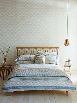 Raita stripe duvet cover single seaglass