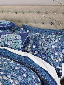 Columbine blue bed linen range