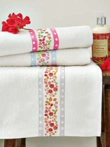 Mary Rose bath towels range in Blue