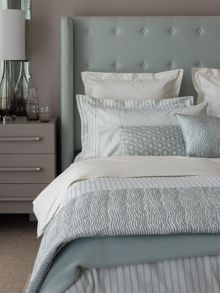 Fable Ellis Stripe bed linen range in Duck Egg