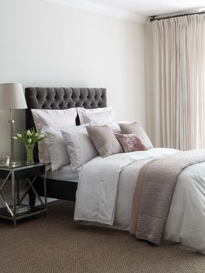 Fable Darcy Stripe bed linen range in Silver