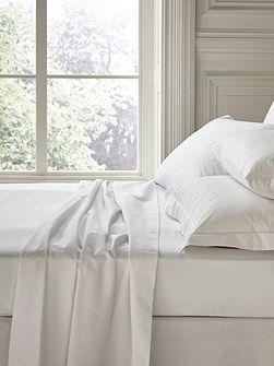 Fable single flat sheet white