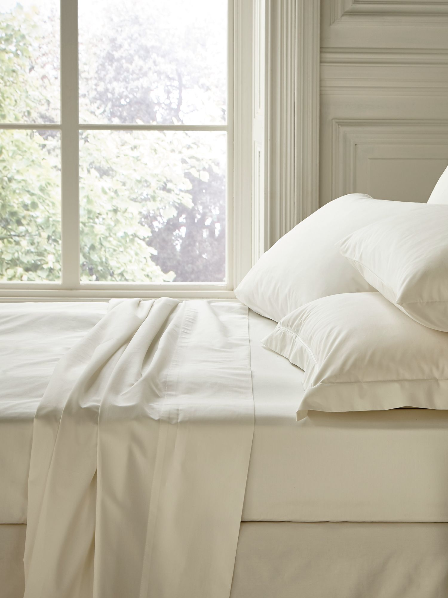 Fable Fable double fitted sheet pearl