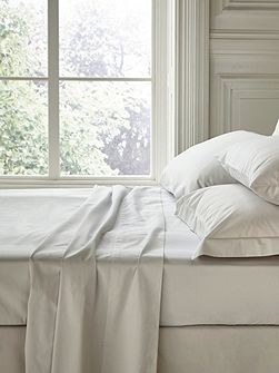 Fable double fitted sheet silver