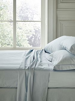 Fable double flat sheet sky blue