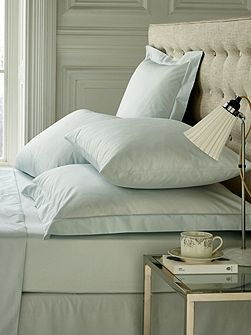 Fable double flat sheet duck egg