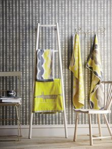 Scion Toki bath towels range in Citrus