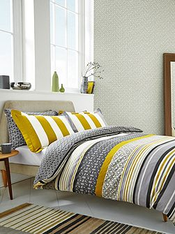 Lace stripe pillow case housewife pair slate