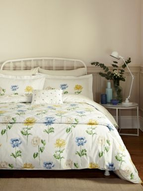 Sanderson Hana bed linen range in Blue