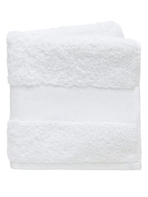 Fable Versailles bath towel range in white