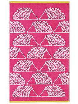 Spike bath sheet pink
