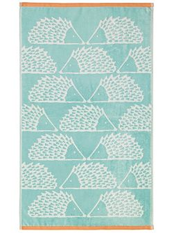 Spike bath towel aqua