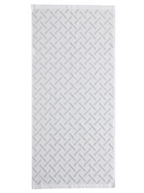 Fable Vienne bath towel range in Silver