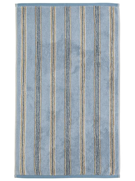 Sanderson Brecon stripe bath towel blue