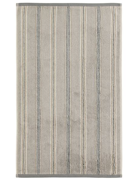 Sanderson Brecon stripe bath towel silver