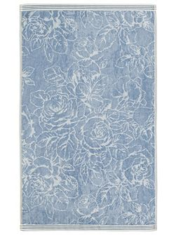 Chelsea rose guest towel blue