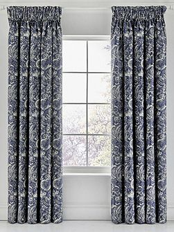 Renata lined curtains 66X72 indigo