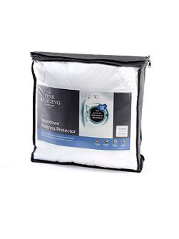 Spundown single mattress protector