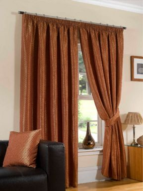 Sundour Sundour sicily curtains in terracotta
