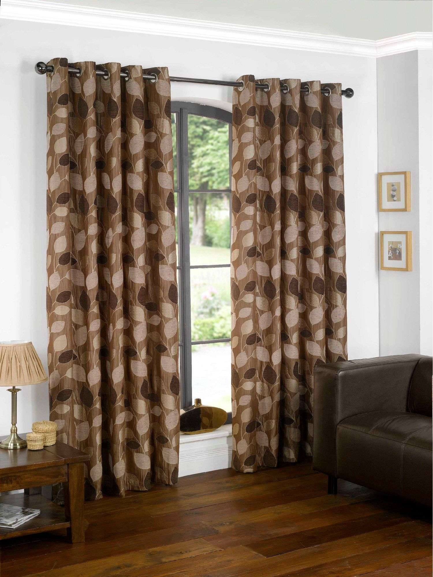 Sundour Lucille chocolate curtain range