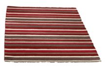 Carved Stirpes Wool Rug Red Range