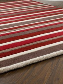 Origin Rugs Carved Stirpes Wool Rug Red Range