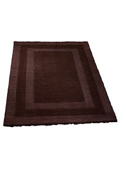 Clayton border rug chocolate 160x230