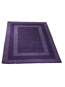 Clayton border rug purple 80x150