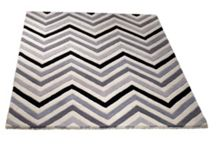 Cabone grey chevron rug