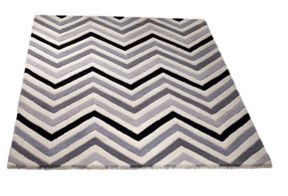 Origin Rugs Cabone grey chevron rug