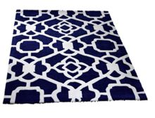 Marrakesh pattern blue & white rug range