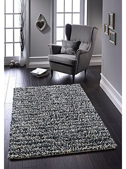 Grey Rock Shaggy Rug 160/230