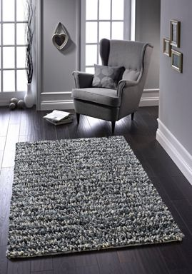 Origin Rugs Grey Rock Shaggy Rug Range