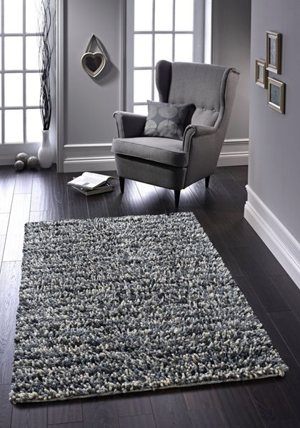 Origin Rugs Grey Rock Shaggy Rug 60/120