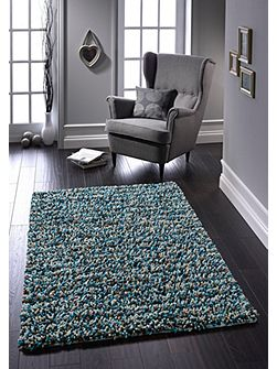 Blue Rock Shaggy Rug 160/230