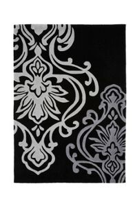 Origin Rugs Black Damask Rug Range