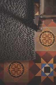 Union hand woven rugs in chocolate