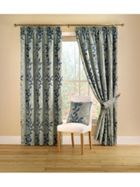 Montgomery Botanica curtains in aqua