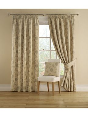 Montgomery Poppy trail curtains in pale blue