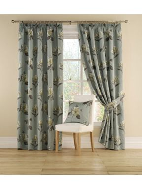 Montgomery Leila curtains in aqua