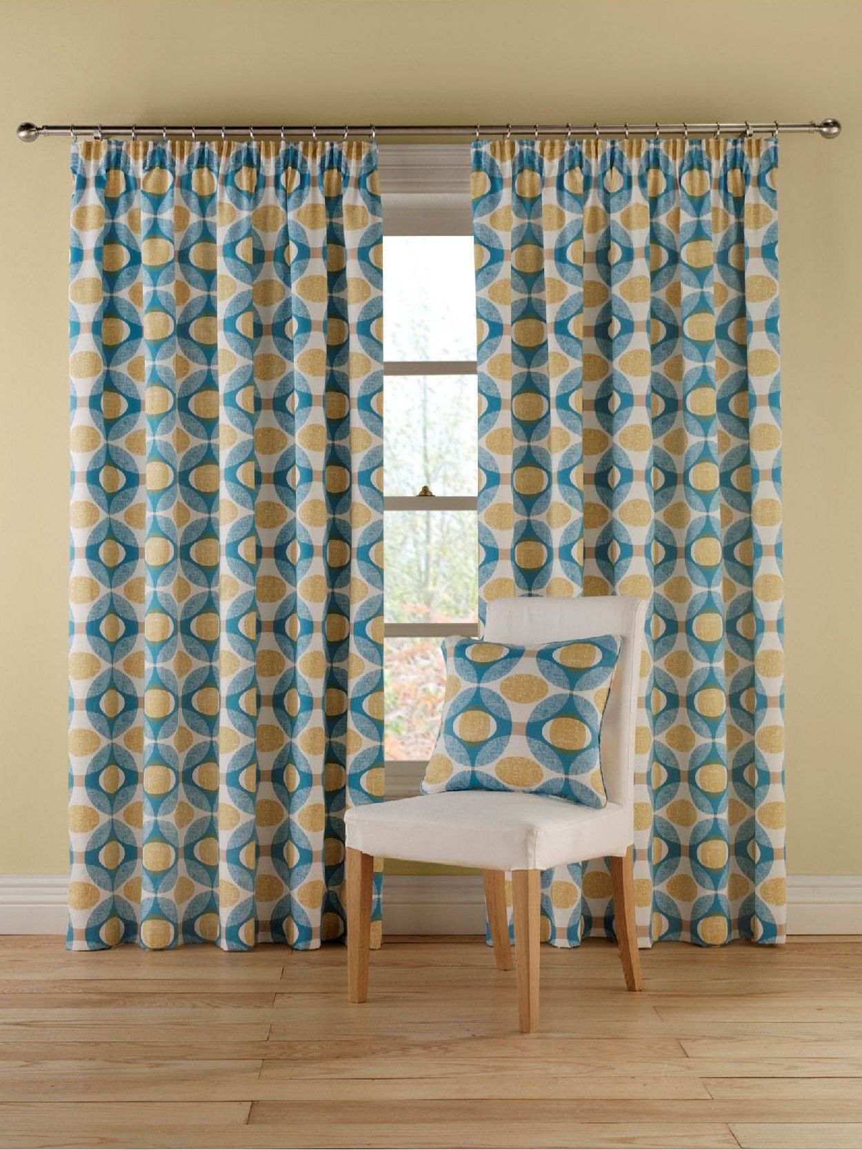 Olympic blue curtain range