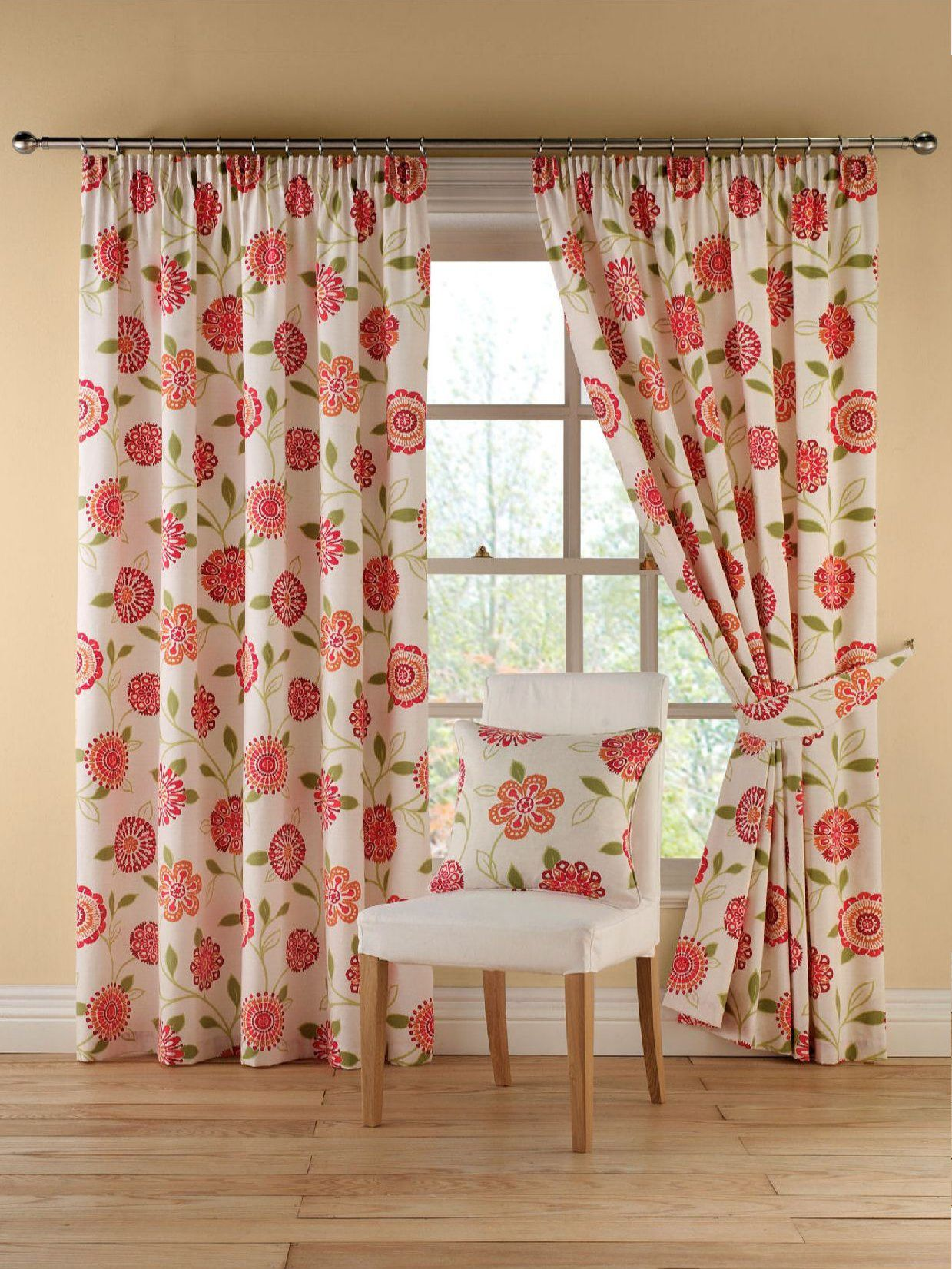Rosaline red curtain range