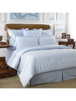 Oxford blue double duvet cover