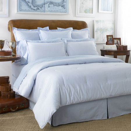 Ralph Lauren Home Oxford blue double fitted sheet