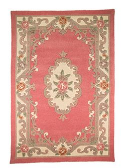 Aubusson pink rug 67x210