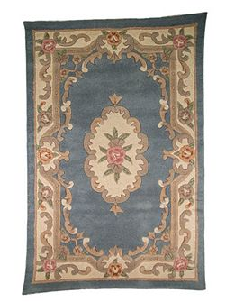 Aubusson blue rug 67x210