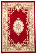Flair Rugs Aubusson Red Wool Rug Range