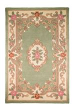 Flair Rugs Aubusson Green Wool Rug Range