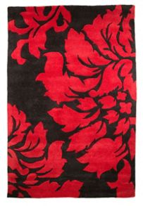 Flair Rugs Matisse Black & Red floral rug range