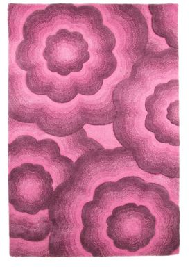 Flair Rugs Realm floral purple wool rug range